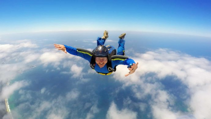SkyDiving 120mph Plus Adrenaline Rush